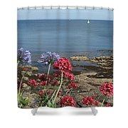Cornwall Newlyn Coast One Shower Curtain