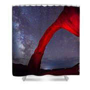 Corona Arch Milk Way Red Light Shower Curtain