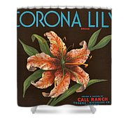 Corona Lily Crate Label Shower Curtain