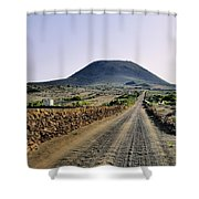 Corona Volcano On Lanzarote Shower Curtain