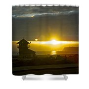 Coronado's Beach At Sunset Shower Curtain