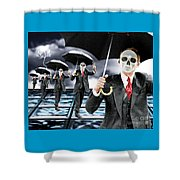 Corporate Matrix Clones Shower Curtain