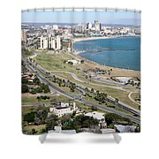 Corps Christi Skyline Shower Curtain