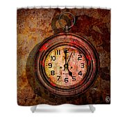 Corroded Time Shower Curtain