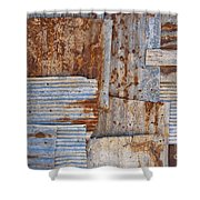 Corrugated Iron Background Shower Curtain