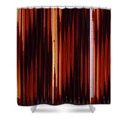 Corrugated Patterns In Orange And Black Shower Curtain