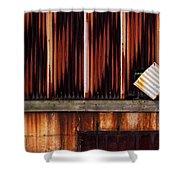 Corrugated Steel Mill Wall Alton Il Shower Curtain