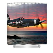 Corsair At Sundown Shower Curtain