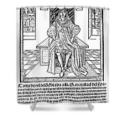 Cortes Letter, 1522 Shower Curtain