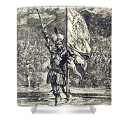 Cortez Claiming Mexico For Spain, 1519 Shower Curtain