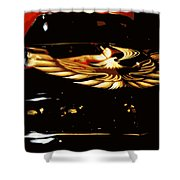Trans Am Against Red Shower Curtain