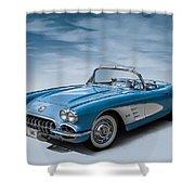 Corvette Blues Shower Curtain
