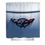 Corvette C5 Badge Shower Curtain