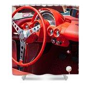 Corvette Dashboard Shower Curtain
