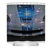 Corvette Is Out Of This World Shower Curtain