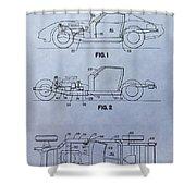 Corvette Patent Shower Curtain