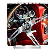 Corvette Steering Wheel Shower Curtain