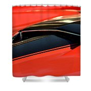 Corvette Torch Shower Curtain
