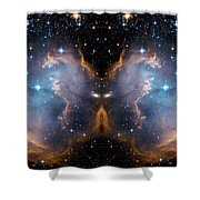 Cosmic Butterfly Shower Curtain