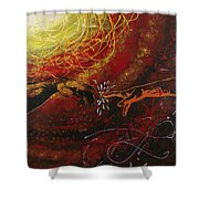 Cosmic Contact Shower Curtain