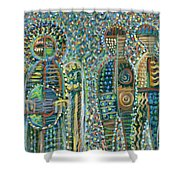 Cosmic Creation Of Adam And Eve Shower Curtain