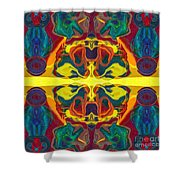 Cosmic Designs Abstract Pattern Artwork Shower Curtain