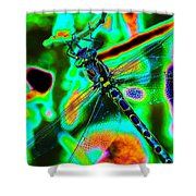 Cosmic Dragonfly Art 1 Shower Curtain