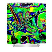 Cosmic Dragonfly Art 2 Shower Curtain