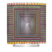 Cosmic Energy Tunnel Infinity Healing Art Background Designs  And Color Tones N Color Shades Availab Shower Curtain