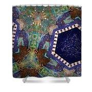 Cosmic Flight Of Dragon Shower Curtain