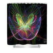 Cosmic Flight Shower Curtain