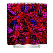 Cosmic Flower Wall Shower Curtain