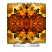 Cosmic Kaleidoscope 2  Shower Curtain by Jennifer Rondinelli Reilly - Fine Art Photography