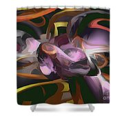 Cosmic Lightning Pastel Abstract Shower Curtain