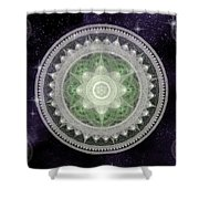 Cosmic Medallions Earth Shower Curtain