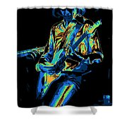 Cosmic Mick Of Bad Company In 1977 Shower Curtain