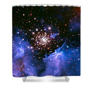 Cosmic Mountains Shower Curtain