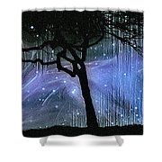 Cosmic Night Shower Curtain