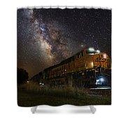 Cosmic Railroad Shower Curtain