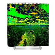 Cosmic River 2 Shower Curtain