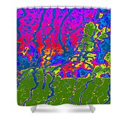 Cosmic Series 016 Shower Curtain