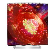 Cosmic Space Station Shower Curtain