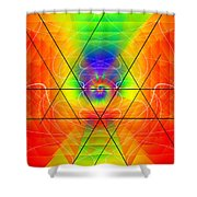 Cosmic Spiral Ascension 01 Shower Curtain