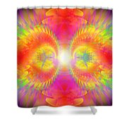 Cosmic Spiral Ascension 02 Shower Curtain