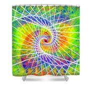 Cosmic Spiral Ascension 03 Shower Curtain