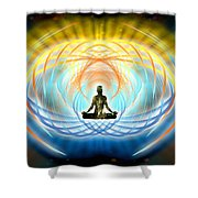 Cosmic Spiral Ascension 04 Shower Curtain