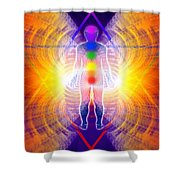 Cosmic Spiral Ascension 06 Shower Curtain