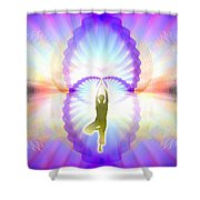 Cosmic Spiral Ascension 07 Shower Curtain