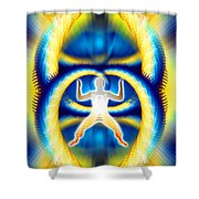 Cosmic Spiral Ascension 08 Shower Curtain