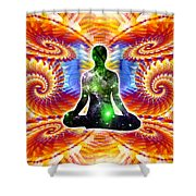 Cosmic Spiral Ascension 10 Shower Curtain